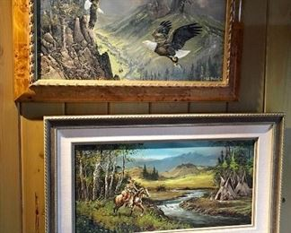 Pair of Ted Blaylock Oil Paintings sold separately.