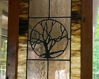 Stained Glass Wood Framed Decor.