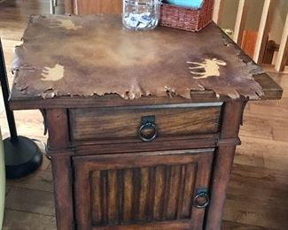 One of 2 Wood side/end tables, could be nightstands if wanted.