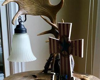 Antler lamp.