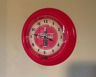 Modern Neon Coke Clock