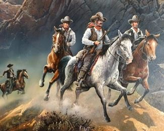 These Rangers appear as if they are riding off of the Painting.