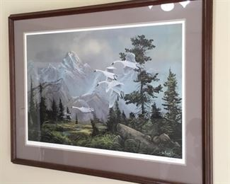 Ted Blaylock signed and Numbered Print.