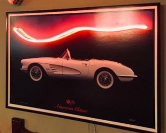 American Classics Corvette Neon Sign.