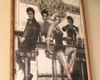 Hollywood Diner Picture, Marilyn Monroe, Elvis Presley, James Dean, & ?