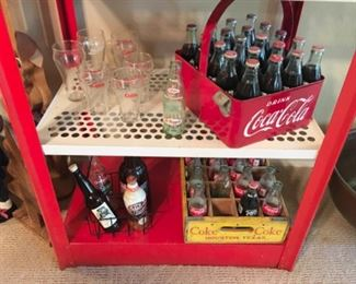 Vintage RARE Ballpark Coca Cola Carrier in Extra Nice original condition. Yellow vintage wood Coke crate.