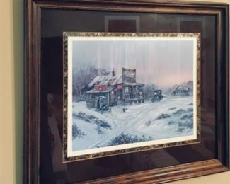 3 of 3 Ted Blaylock signed & numbered Winter Scene