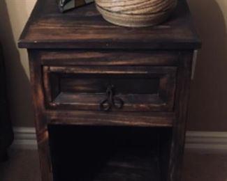 Very Nice Rustic dark wood nightstands, showing 1 of 2.