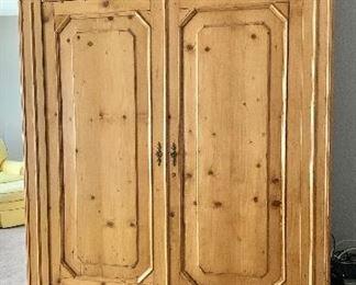 """$595 Vintage pine armoire 8'1""""H x 62""""W x 24""""D"""