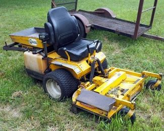 "Walker Gas Powered Riding Lawn Mower With 48"" Deck & Hydraulic Dump Bed, Model MTGHS, 20 HP, In Working Order"