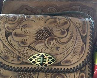 Vintage Tooled Leather purses