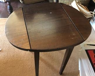 Mid century fold down side table