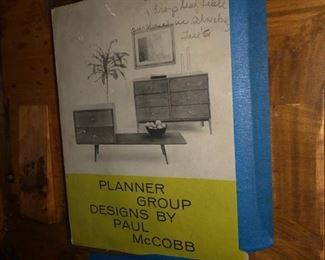 Planner Group Brochure and 2 armchairs and table Paul McCobb