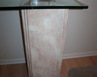 Glass Top Table on Two (2) Pillars