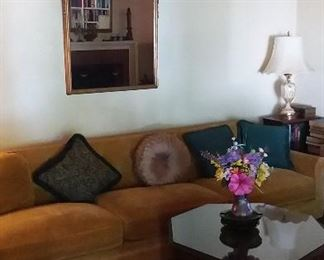 Antique mirrors  , Sofa and coffee table