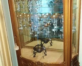 French Curio Cabinet . Glass wear