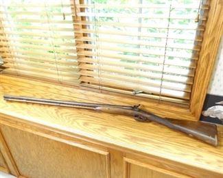 Antique Perkins Black Powder Double Barrel Shotgun