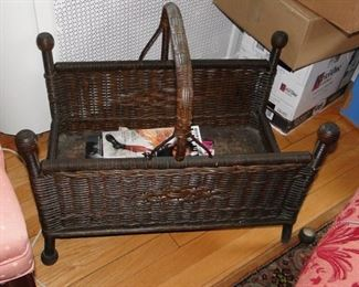 Antique magazine rack or wood holder
