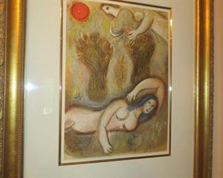 Marc Chagall Boaz Wakes Up And Sees Ruth at His Feet