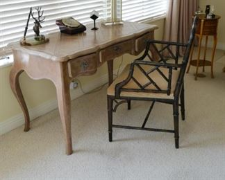 Desk lamp $285, desk $325 and chair $150
