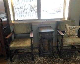 Two chairs $35 each and table $50
