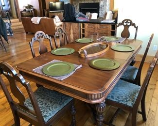 Kitchen table $500 and chairs $20 each (6)