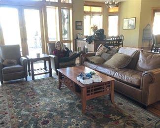 coffee table $75 rug $150
