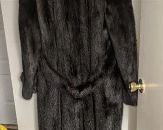 Men's Full Length Mink Coat Size 42