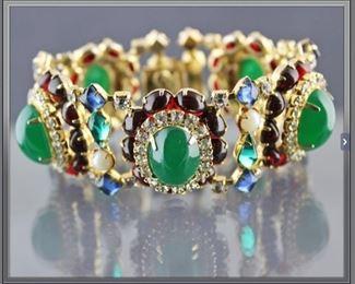 Hattie Carnegie 5 link bracelet