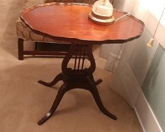 Oval harp tables (2)