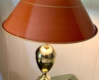 Brass table lamp with metal shade $35 Matches floor lam both for $65