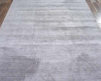 11X8' Contemporary Silver Pile Area Rug