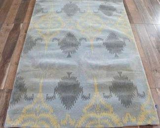 8X5' Handmade Jacquard Pattern Area Rug
