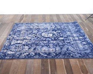 8X8' Unique Loom Blue Tricolour Area Rug