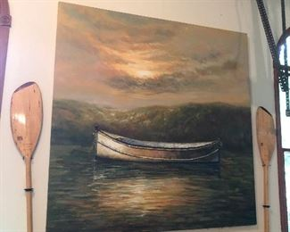 Large signed oil on canvas