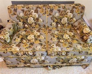 Fun floral hide-a-bed loveseat
