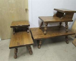 1970s Early American Styled Coffee Table and End Table Set