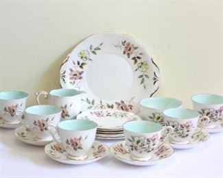 Lot of English Windsor Queen Anne Bone China Tea Set