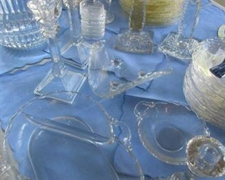 Pattern and Pressed glass by the pound- many rare patterns