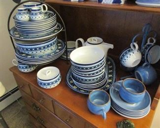 Dishes from Portugal- and many other countries- This collector was a traveler and liked to buy while traveling- whole sets of dishes coming home to Wisconsin was not uncommon!