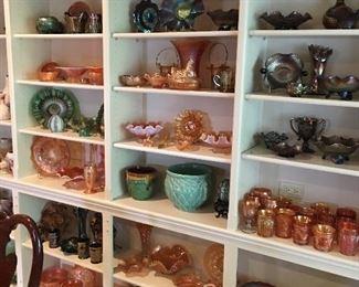 Carnival glass, McCoy pottery