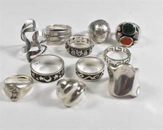 11 Sterling Silver Rings