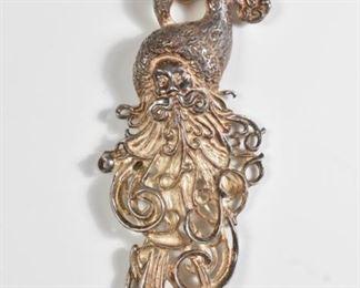 Sterling Santa Pin Brooch Pendant