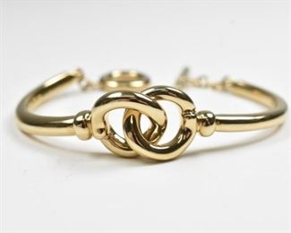 14K Interlocking Link Bracelet