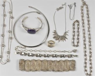 Sterling Group Necklaces, Filigree bracelet