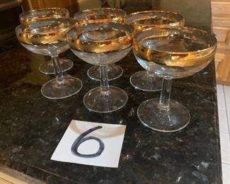 Matching 24k martini glasses