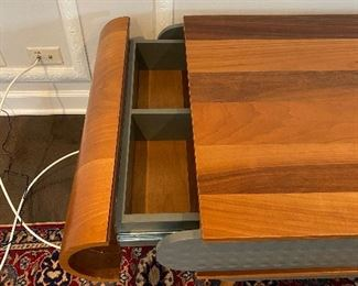 """Zellano Furniture Modern Coffee Table with both sides open for storage, streamlined living spaces 38"""" x 30""""$300 OBO"""