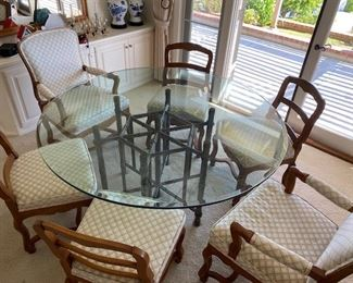 """60"""" BEVELED GLASS TABLE $125"""