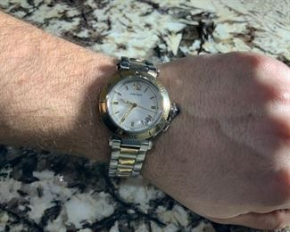 Cartier Pasha # 1034 Swiss Automatic Gold Two Tone Watch -- $2,800