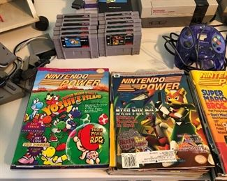 Stacks of old Nintendo Power Magazines
